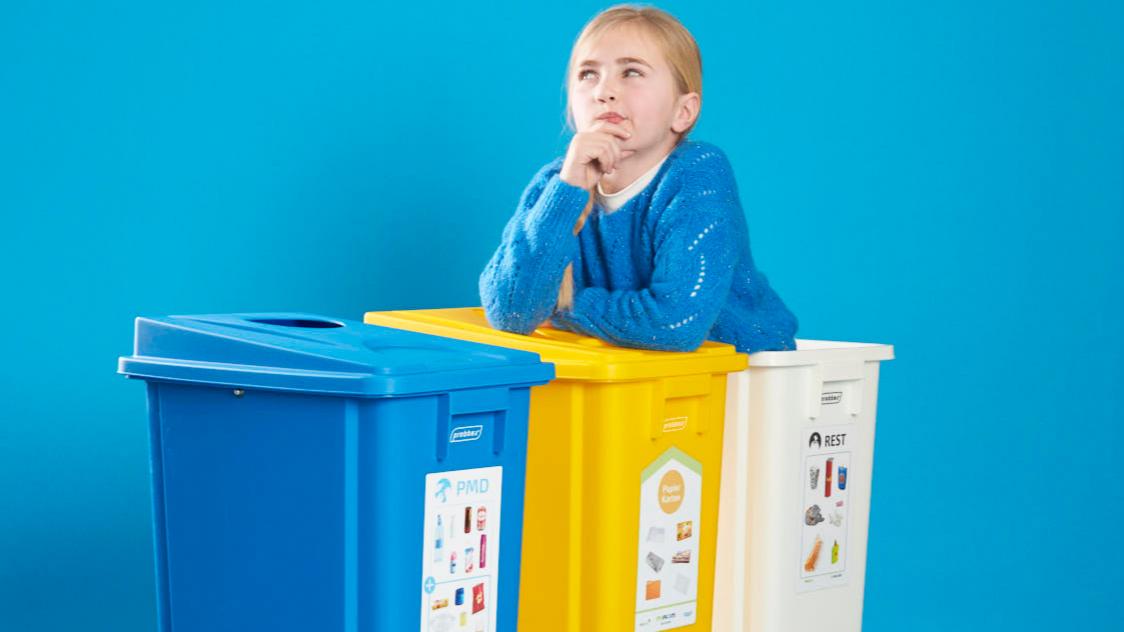 Actie: Sorteersticker op vuilnisbak