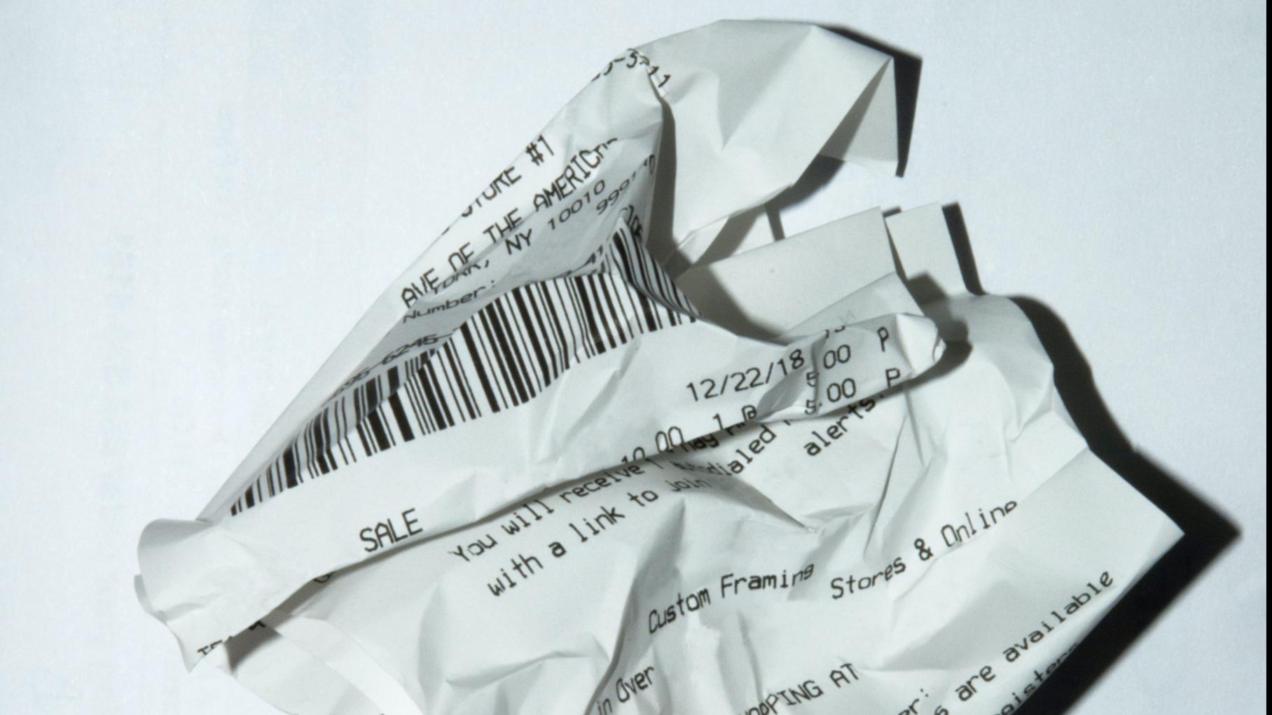 actie: Kasticket bij papier/karton
