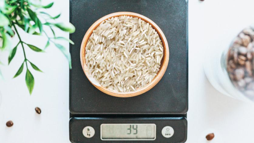 actie: Meet of weeg rijst en pasta af